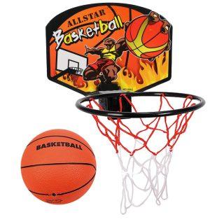 Набор для игры в баскетбол, щит 28*21 см, мяч, игла для насоса