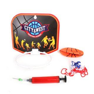 Набор для игры в баскетбол, щит, мяч, насос  с иглой