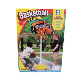 Набор напольный баскетбол, стойка высота 105 см, щит, мяч, насос, коробка