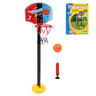 Набор напольный баскетбол, стойка высота 115 см, щит 34,5*25 см, мяч, насос, коробка