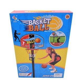 Набор напольный баскетбол, стойка высота 115 см, щит, мяч, насос, коробка