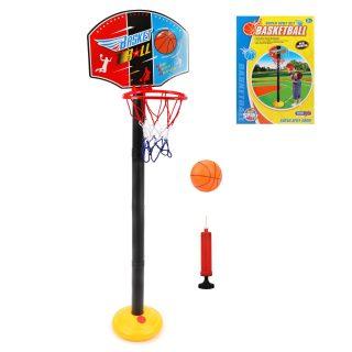 Набор напольный баскетбол, стойка высота 118 см, щит 34,5*25 см, мяч, насос, коробка