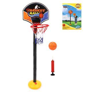 Набор напольный баскетбол, стойка высота 140 см, щит 31,5*24,5 см, мяч, насос, коробка