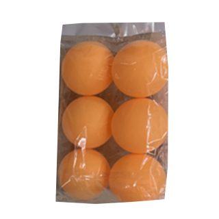 Шарики д/наст.тенниса 6 штук, оранж, пакет