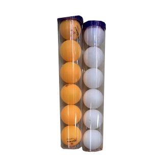 Шарики д/наст.тенниса тяж, 6 штук, туба