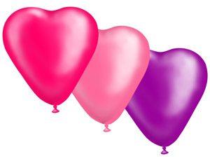 Шар сердце 10 Неон