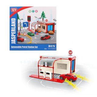 Сервисная станция обслуживания, в комплекте: деталей 37шт., машина инерц.металл. 1шт., коробка