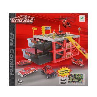 Паркинг Пожарная служба, деталей 20 шт.(в комплекте транспортное средство 2шт.), коробка