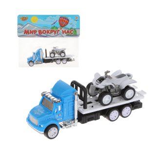 Игр.набор Автовоз, в комплекте: машина инерц., квадрацикл без механизма, пакет