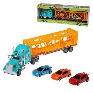 Машина Автовоз инерц., в комплекте: транс.средство 4шт., коробка