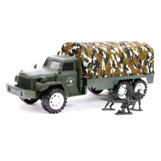 Игр.набор Военная техника, грузовая машина инерц.1шт, фигурки солдат 4шт.