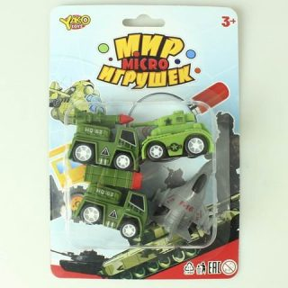 Игр.набор Военный инерц., в комплекте 4 предмета, блистер