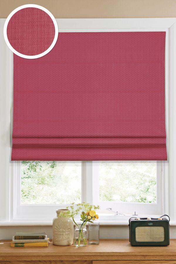 Римская штора Эскар однотонная 100*160, красный