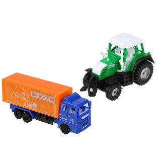 Игр.набор Транспорт, грузовая машина инерц., трактор инерц., пакет