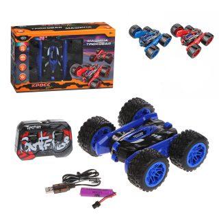 Машина р/у Трюковая, мягкие шины, свет, аккум., USB шнур, эл.пит.AA*2шт. не вх.в комплект, коробка