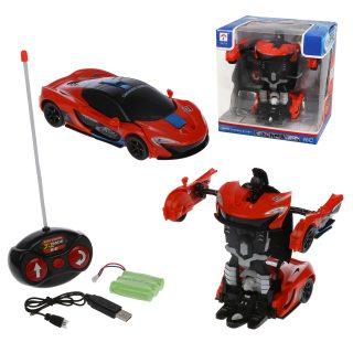 Трансформер робот-машина р/у, свет, звук, аккум., USB шнур, эл.пит.АА*2шт.не вх в комплект, коробка