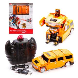 Трансформер Робот-машина, 1:24, свет, аккум.встроен., USB зу, в ассортименте, эл.пит.не вх.в комплект
