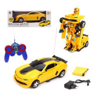 Трансформер эл. Машина-робот, резиновые покрышки, свет, звук, аккум.,эл.пит.АА*2шт.не вх.в комплект