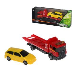 Автовоз металл. SCANIA TOW TRUCK, в комплекте: машина металл. с машинкой, коробка, в ассортименте