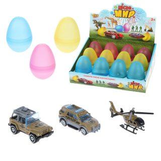 Военная техника металл., в яйце, дисплей, в ассортименте