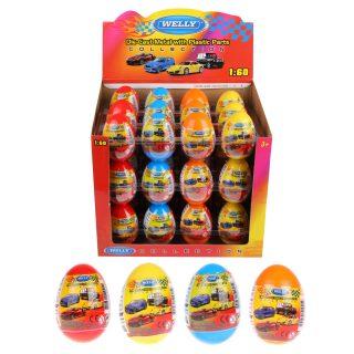 Игрушка модель машины 1:60 яйцо-сюрприз в ассорт. 36шт.