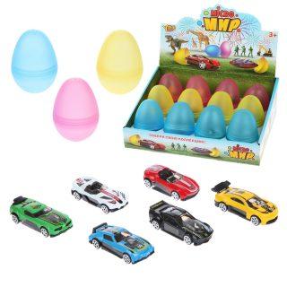 Машина металл., в яйце, дисплей, в ассортименте