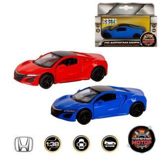 Машина мет. 1:38 Acura NSX, откр.двери,12см, цвета в ассортименте