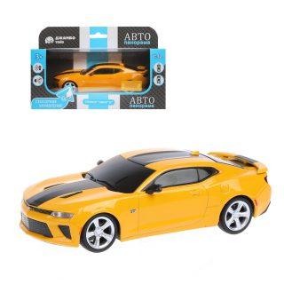 Машинка мет. 1:32 Chevrolet  Camaro  SS, желтый, сенсорное управление