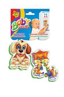 Пазлы магнитные Baby puzzle Домашние любимцы