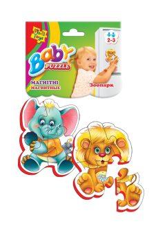Пазлы магнитные Baby puzzle Зоопарк