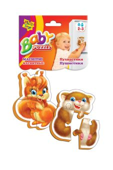 Пазлы магнитные Baby puzzle Пушистики