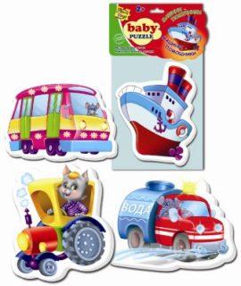 Пазлы мягкие Baby puzzle Транспорт
