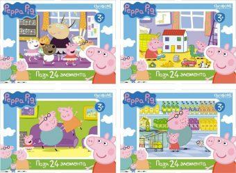 Мини-пазл Peppa Pig 24 эл