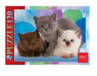 Пазлы 120 А5ф 165х230мм Три котенка