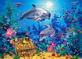 Пазлы 300 Семья дельфинов