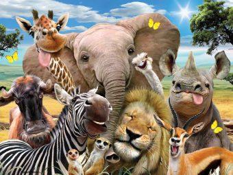 Пазл Super 3D Африка селфи, 63 дет.