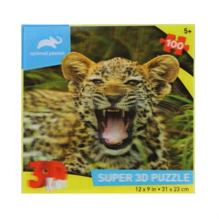 Пазл Super 3D Маленький ягуар, 100 дет.