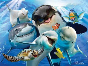 Пазл Super 3D Океанское селфи, 48 дет.