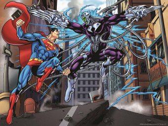 Пазл Super 3D Супермен против Электро, 500 детал.