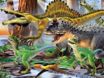 Пазл Super 3D Хищные динозавры, 100 детал.