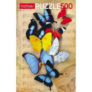 Пазлы 500 А2ф 340х460мм Бабочки
