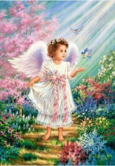 Пазлы 500 Ангел в саду