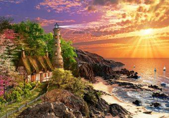 Пазлы 500 Дом на побережье