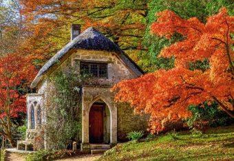 Пазлы 500 Дом осенью