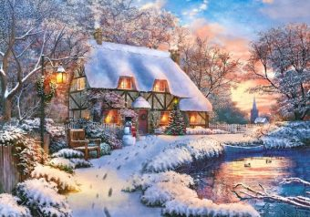Пазлы 500 Зимний коттедж