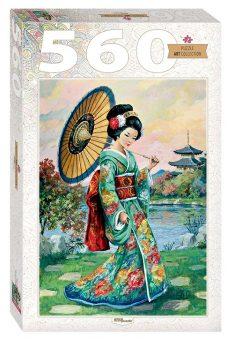 Пазлы 560 Японка