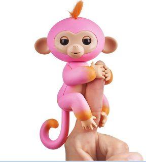 Интерактивная обезьянка Саммер розовая с оранжевым 12 см