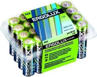 Батар. ААА алкалин. Ergolux (LR03 Alkaline BP-24,1.5В)