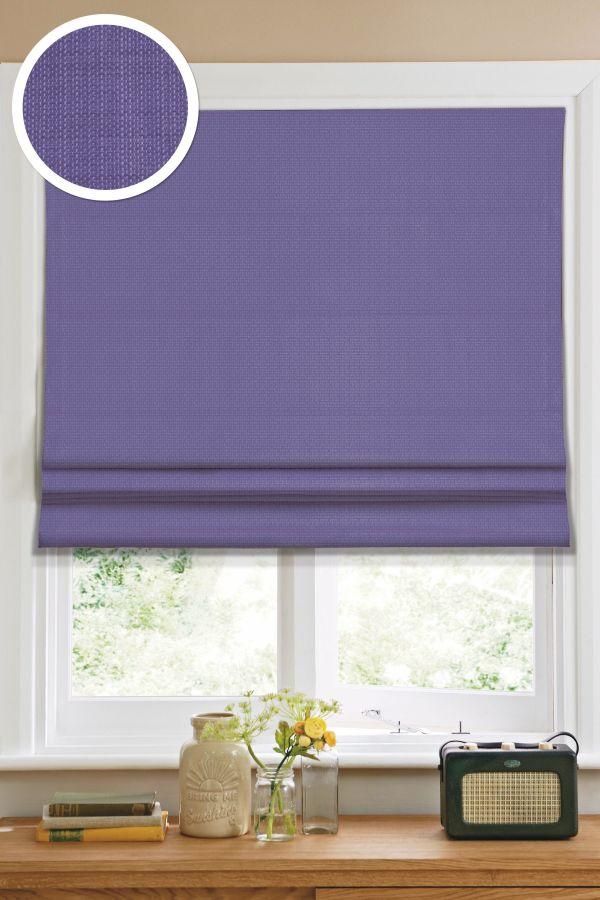 Римская штора Эскар однотонная 160*160, фиолетовый