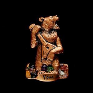 """Магнит """"Медведь"""", 6х9 см, гипс, микс   4746702"""